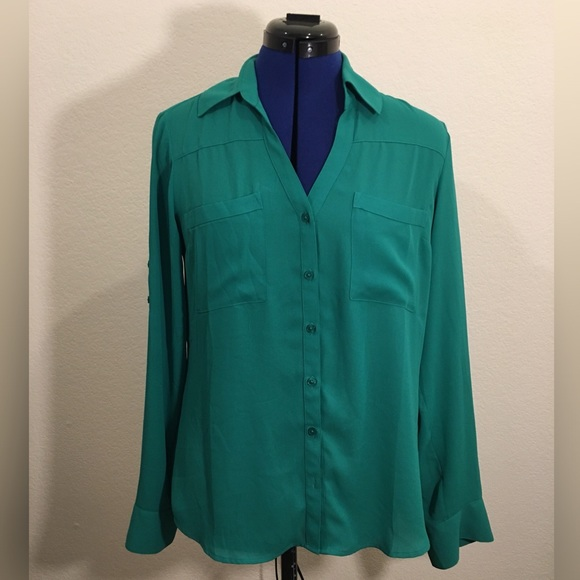 Express Tops - Green EXPRESS Original Fit Portofino Shirt